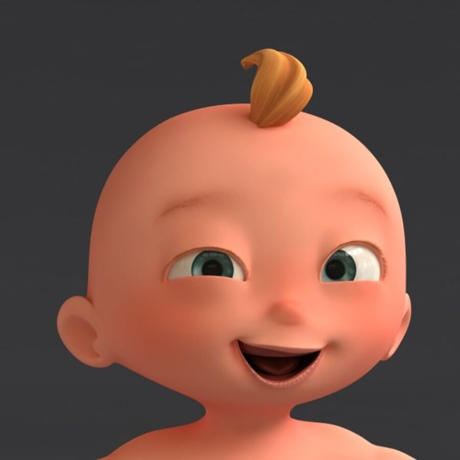 Dessin animé, bébé, à, expressions royalty-free 3d model - Preview no. 2
