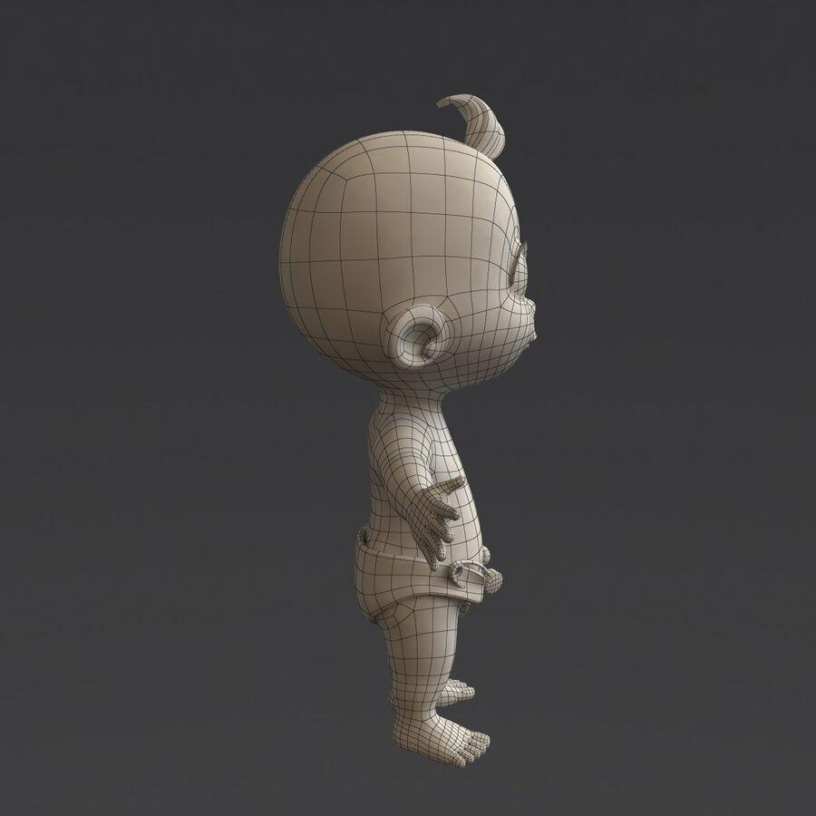 Мультипликационный ребенок с выражениями лица royalty-free 3d model - Preview no. 22