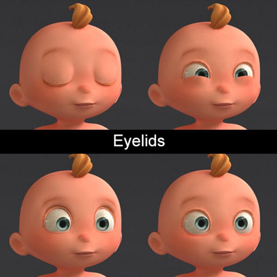 Мультипликационный ребенок с выражениями лица royalty-free 3d model - Preview no. 13
