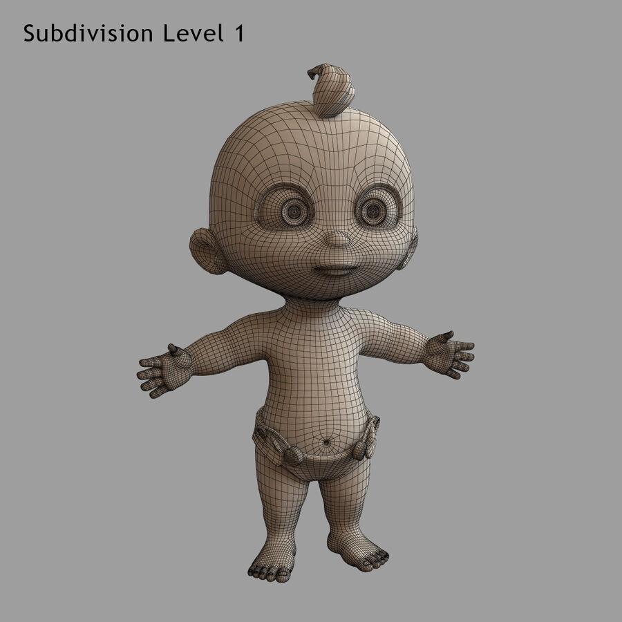 Мультипликационный ребенок с выражениями лица royalty-free 3d model - Preview no. 24