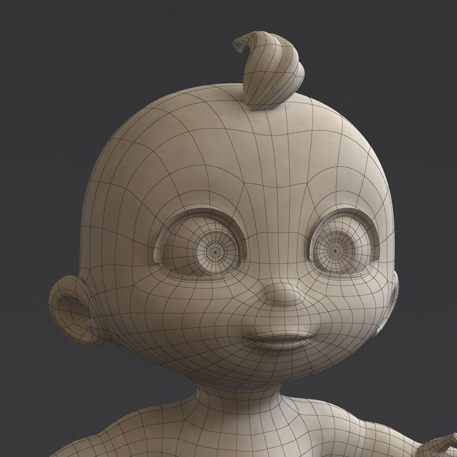 Мультипликационный ребенок с выражениями лица royalty-free 3d model - Preview no. 18