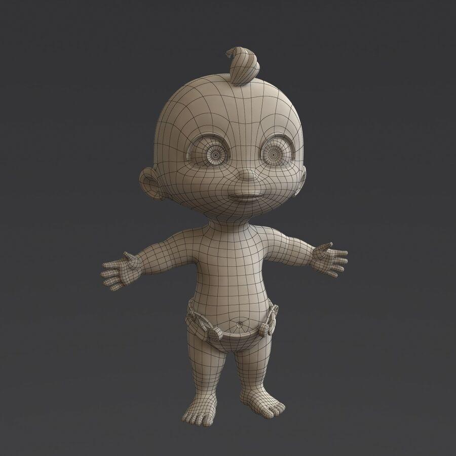 Мультипликационный ребенок с выражениями лица royalty-free 3d model - Preview no. 17