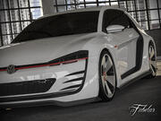 Volkswagen Design Vision GTI + garage 3d model