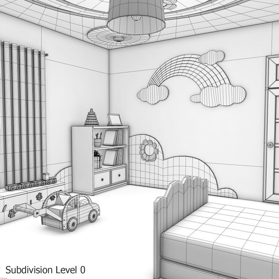 만화 침실 royalty-free 3d model - Preview no. 27