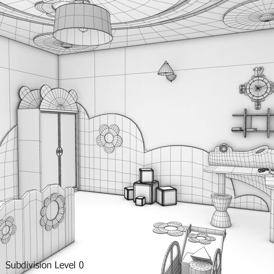 만화 침실 royalty-free 3d model - Preview no. 23