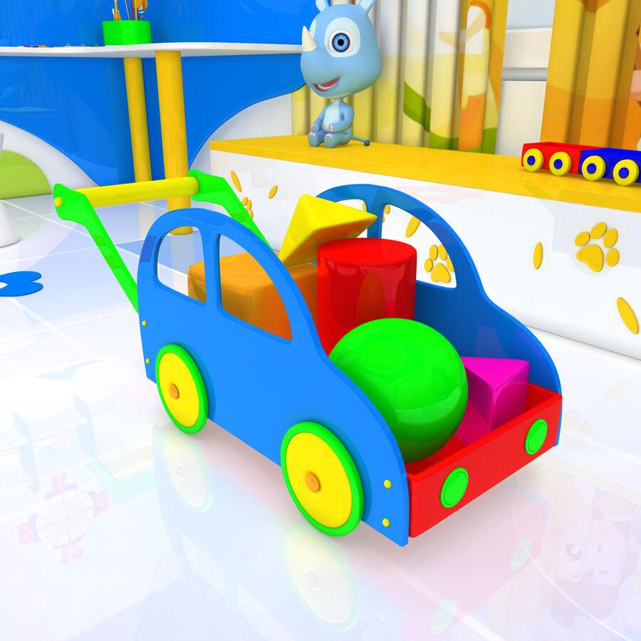 만화 침실 royalty-free 3d model - Preview no. 14