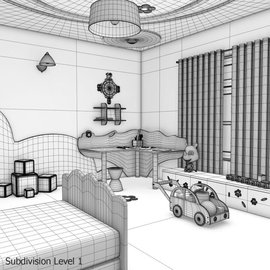만화 침실 royalty-free 3d model - Preview no. 22