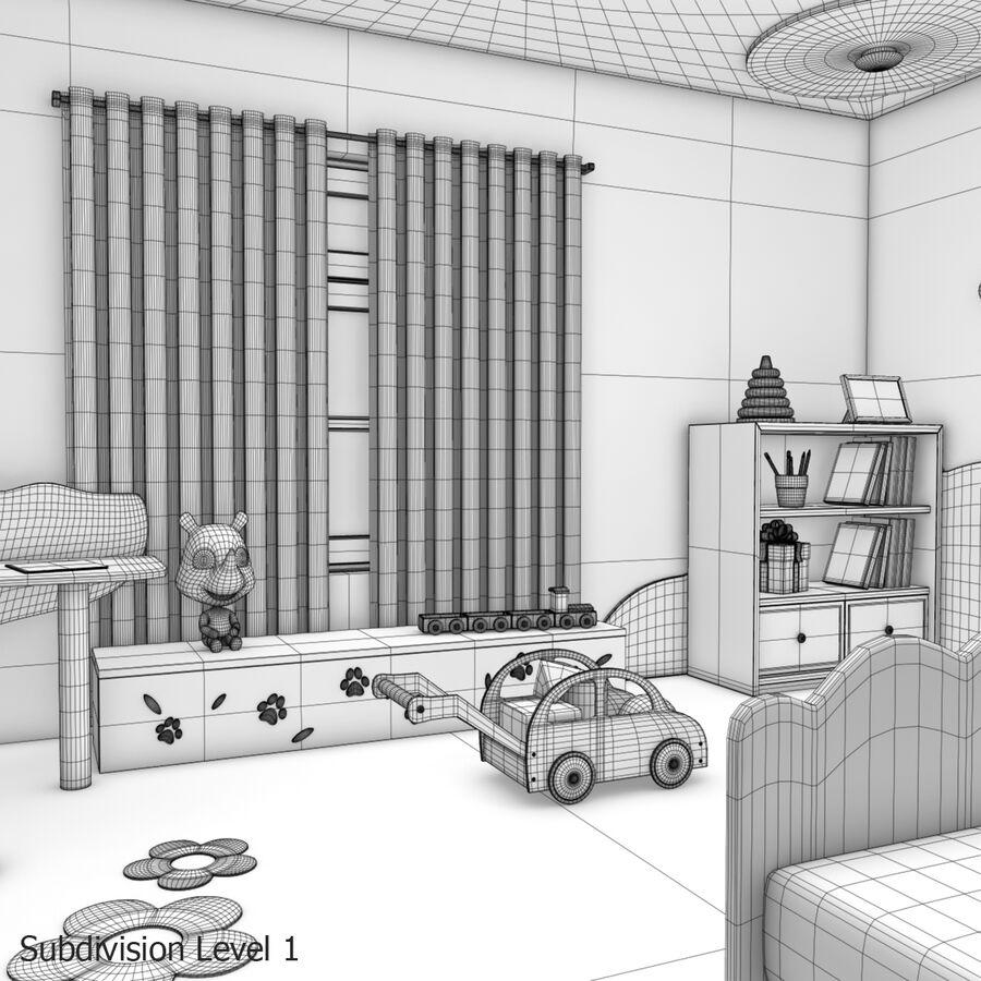 만화 침실 royalty-free 3d model - Preview no. 30