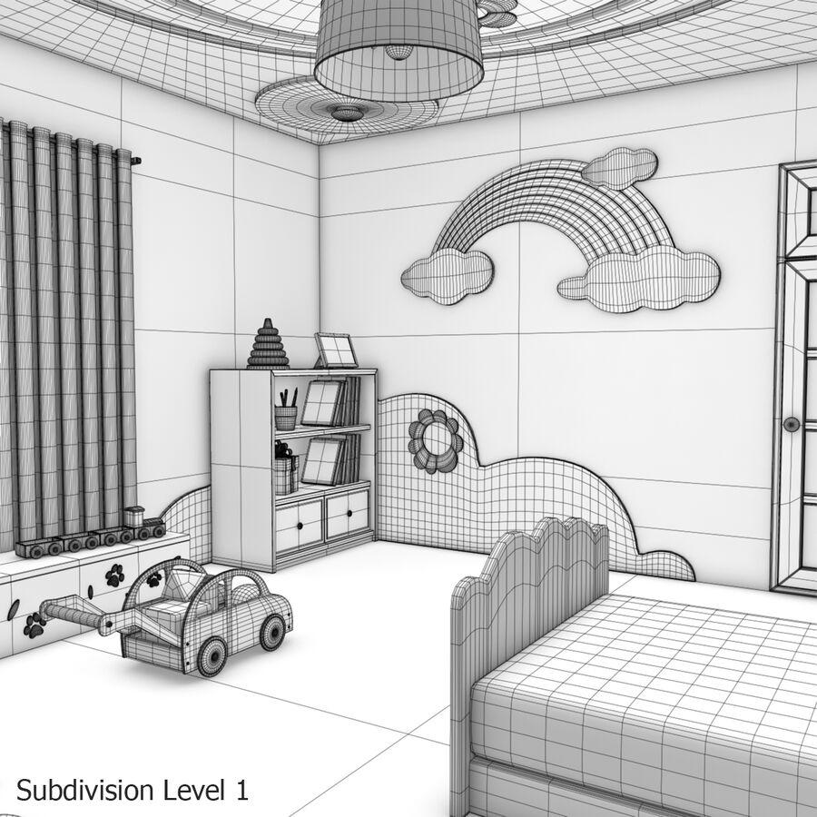 만화 침실 royalty-free 3d model - Preview no. 28