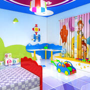 Cartoon slaapkamer 3d model
