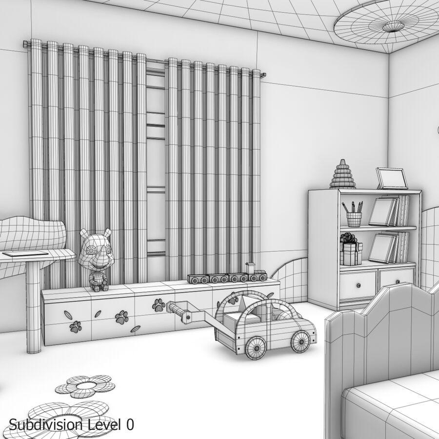 만화 침실 royalty-free 3d model - Preview no. 29