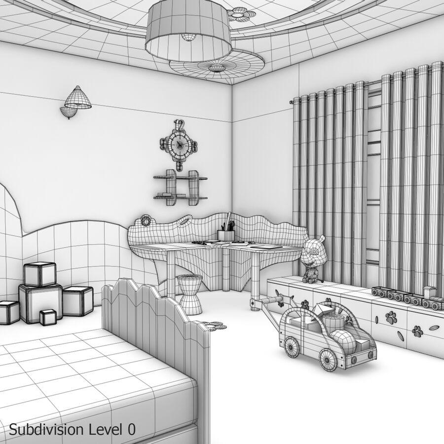 만화 침실 royalty-free 3d model - Preview no. 21