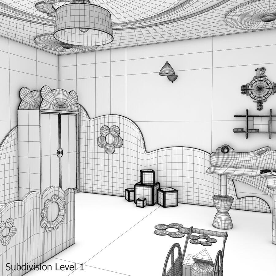 만화 침실 royalty-free 3d model - Preview no. 24