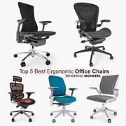 Top 5 des meilleures chaises de bureau ergonomiques 3d model
