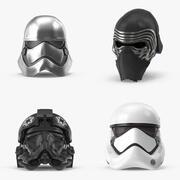 The Force Awakens Helmet Collection 3d model
