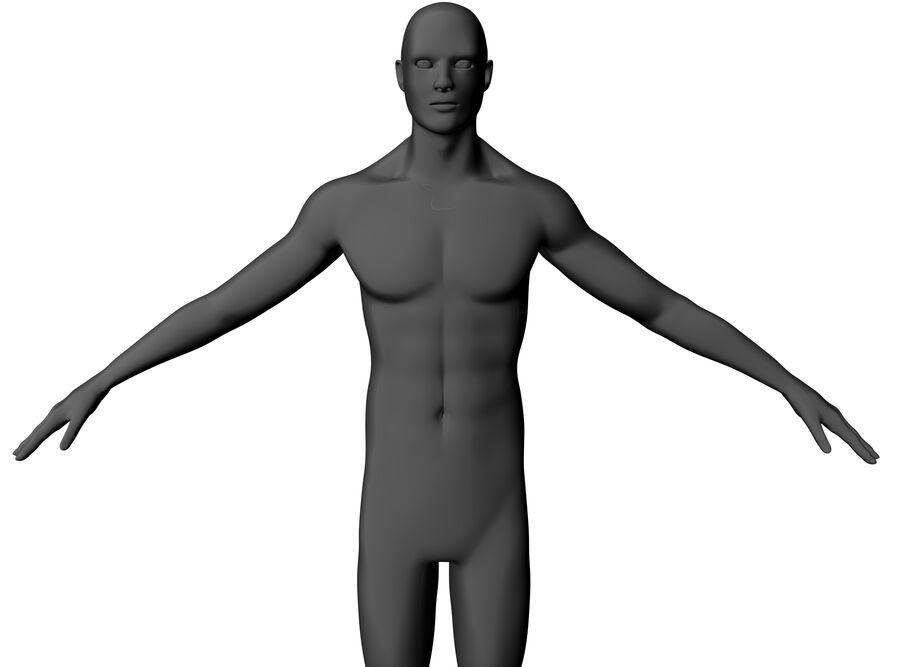 现实的男性基础网格 royalty-free 3d model - Preview no. 11