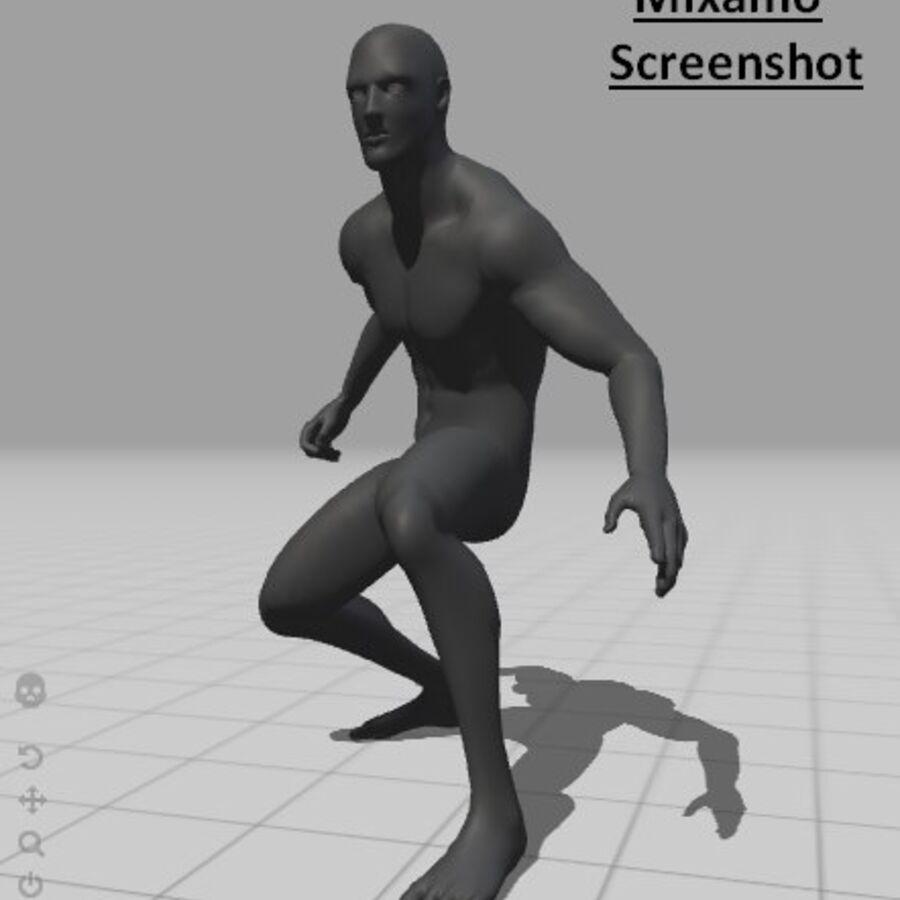 现实的男性基础网格 royalty-free 3d model - Preview no. 17