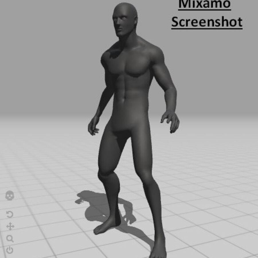 现实的男性基础网格 royalty-free 3d model - Preview no. 15