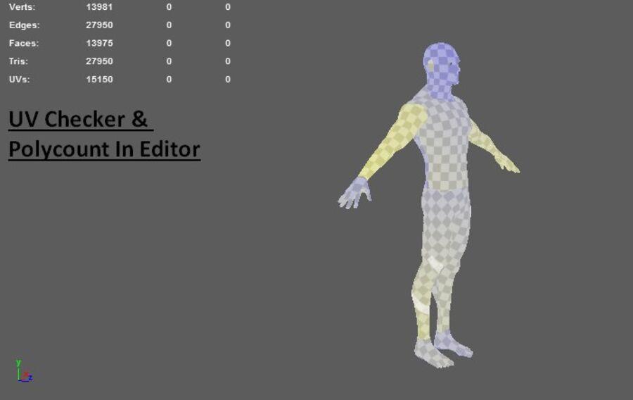 现实的男性基础网格 royalty-free 3d model - Preview no. 13