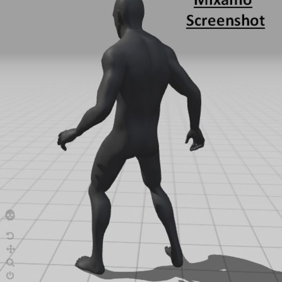 现实的男性基础网格 royalty-free 3d model - Preview no. 16