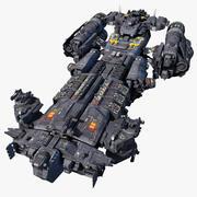SciFi_Support Fırkateyn 3d model