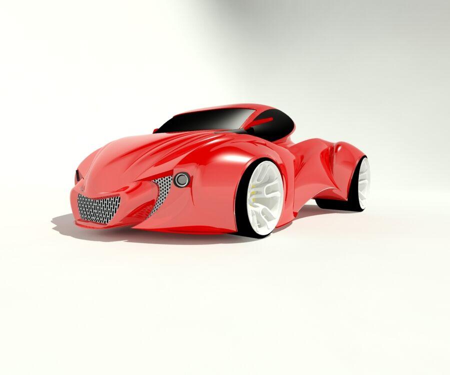 alien concept car royalty-free 3d model - Preview no. 4
