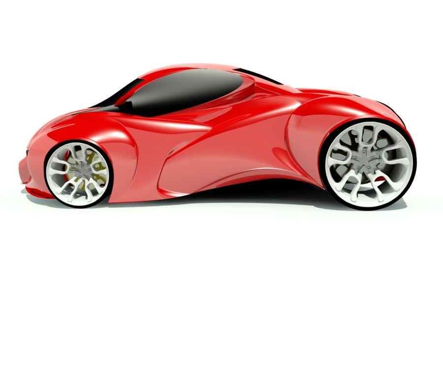 alien concept car royalty-free 3d model - Preview no. 1