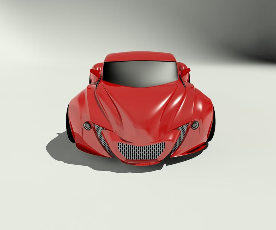 alien concept car royalty-free 3d model - Preview no. 3