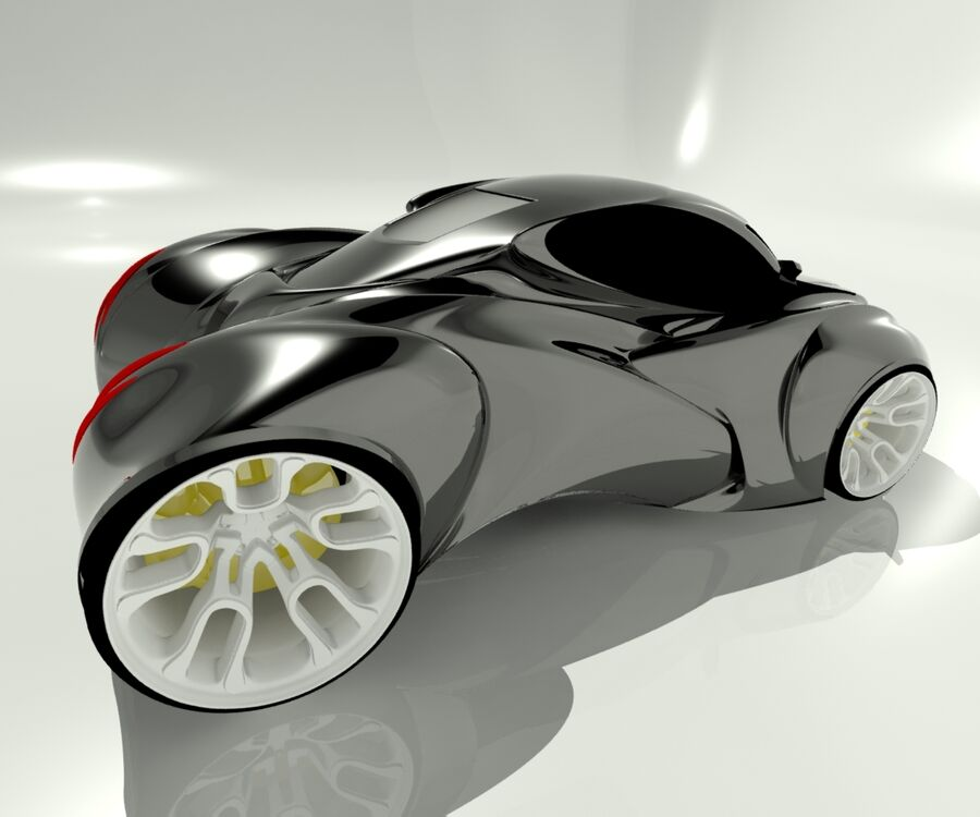 alien concept car royalty-free 3d model - Preview no. 5