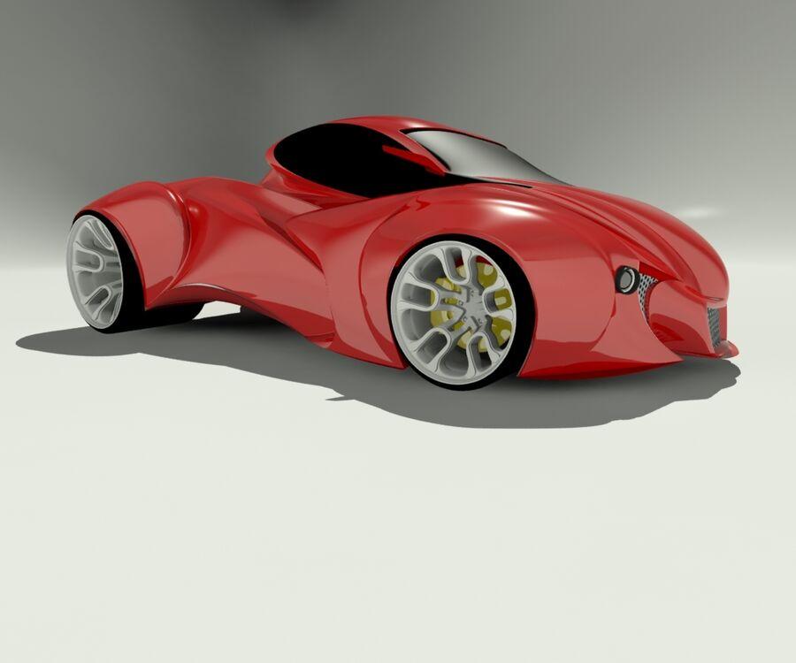 alien concept car royalty-free 3d model - Preview no. 2
