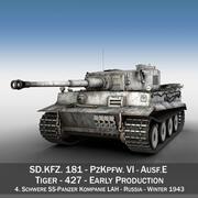 Panzer VI - Tiger - 427 - Tidig produktion 3d model