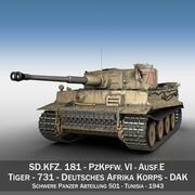 Panzer VI - Tiger - 731 - Tidig produktion 3d model