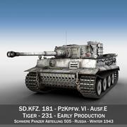 Panzer VI - Tiger - 231 - Tidig produktion 3d model
