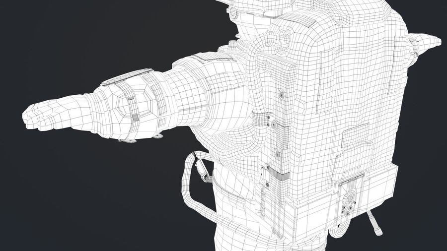 Astronaut royalty-free 3d model - Preview no. 10