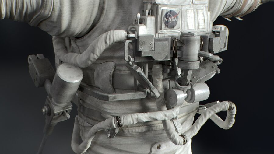 Astronaut royalty-free 3d model - Preview no. 14