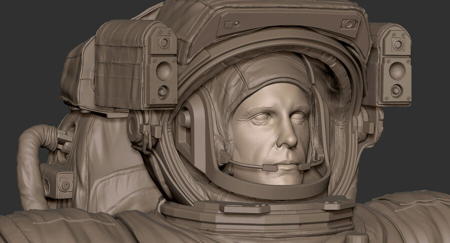 Astronaut royalty-free 3d model - Preview no. 24