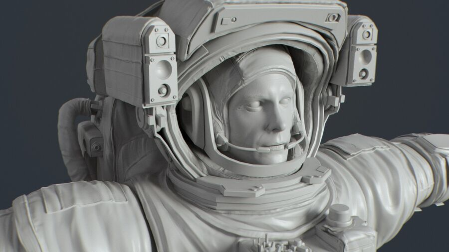 Astronaut royalty-free 3d model - Preview no. 12