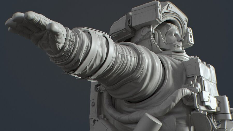 Astronaut royalty-free 3d model - Preview no. 18