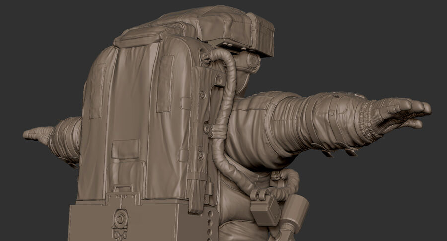 Astronaut royalty-free 3d model - Preview no. 22