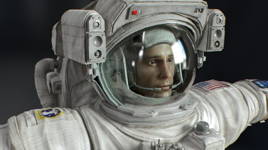 Astronaut royalty-free 3d model - Preview no. 11