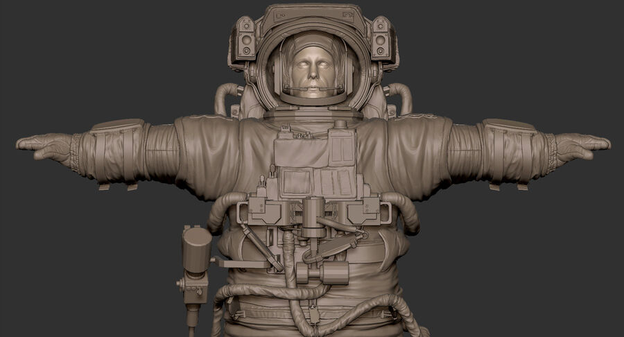 Astronaut royalty-free 3d model - Preview no. 20