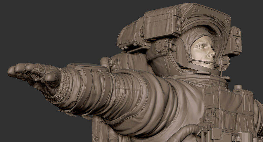Astronaut royalty-free 3d model - Preview no. 21