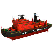 50 Lassen Sie Pobedy Icebreaker versenden 3d model