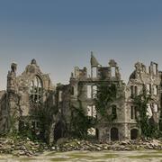 中世纪被毁的建筑物01 3d model