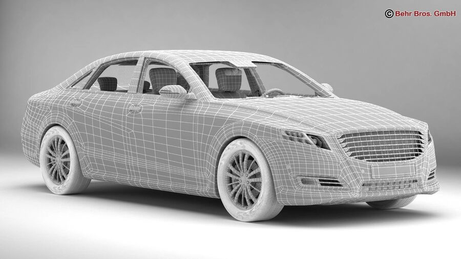 Generic Car Luxury Class royalty-free 3d model - Preview no. 20