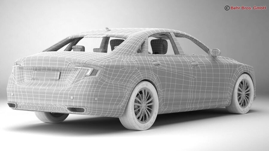 Generic Car Luxury Class royalty-free 3d model - Preview no. 22