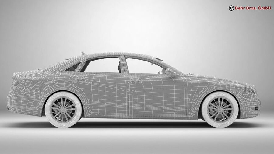 Generic Car Luxury Class royalty-free 3d model - Preview no. 24