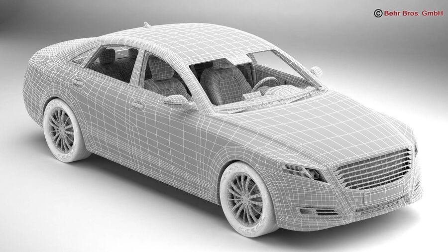 Generic Car Luxury Class royalty-free 3d model - Preview no. 19