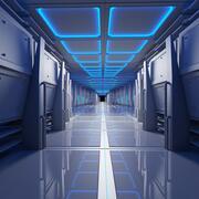 未来派呼吸隧道动画 3d model