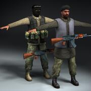 テロリストN&P 3d model